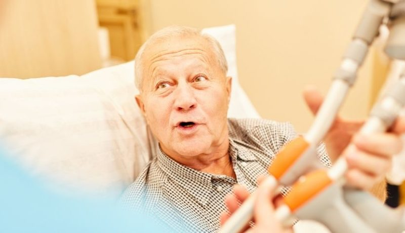 senior rehabilitation after a fall or emergency surgery