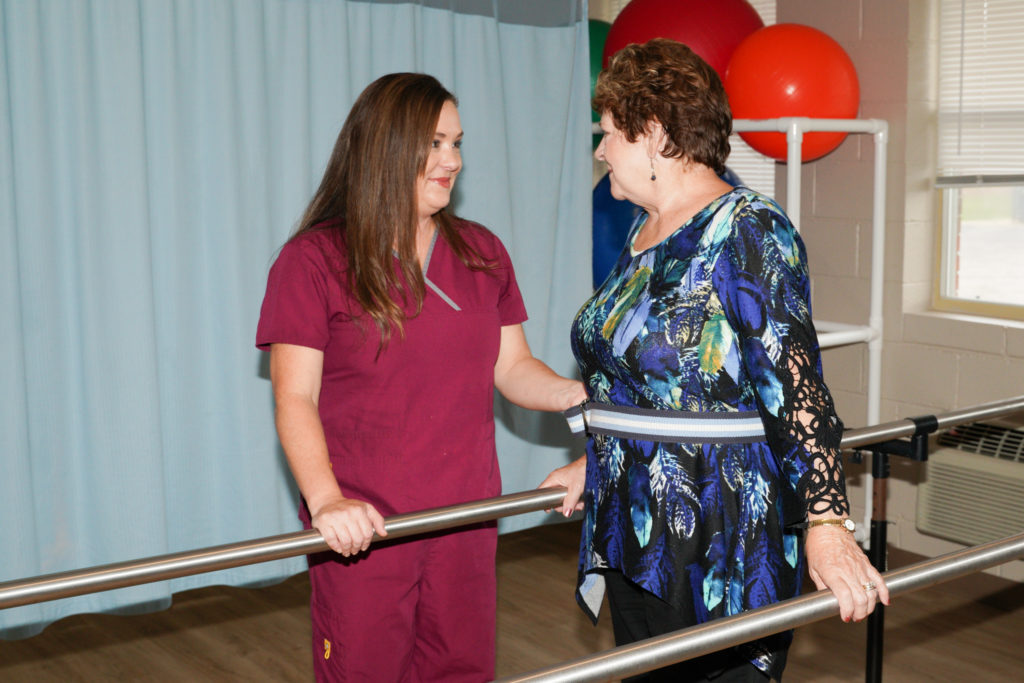 balance bars rehabilitation equipment at bladen east